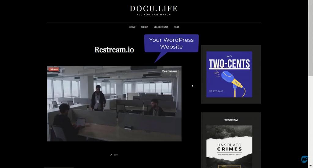 multi streaming on wordpress